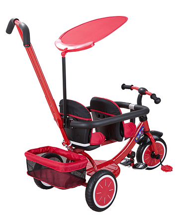 Triciclo Doble Rojo