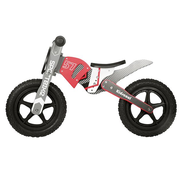 Bicicleta Madera tipo Moto Rojo