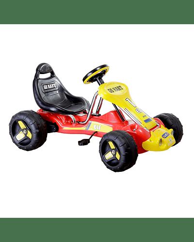 Go Kart a pedales Rojo Amarillo