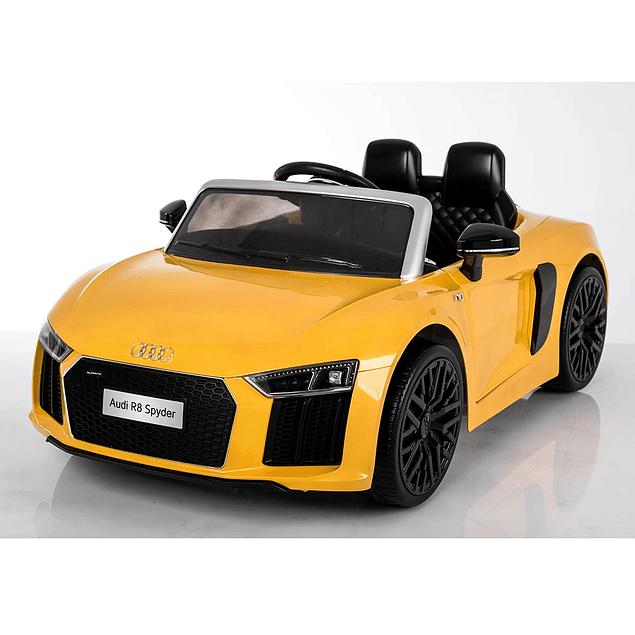 Auto a Batería Audi Spyder Amarillo
