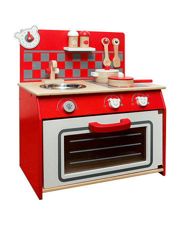 Cocina de Madera Roja