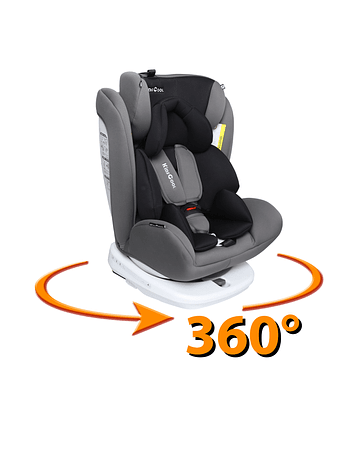 Silla de auto 360° Gris