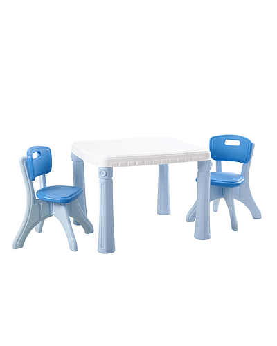 Juego Mesa Plástico azul