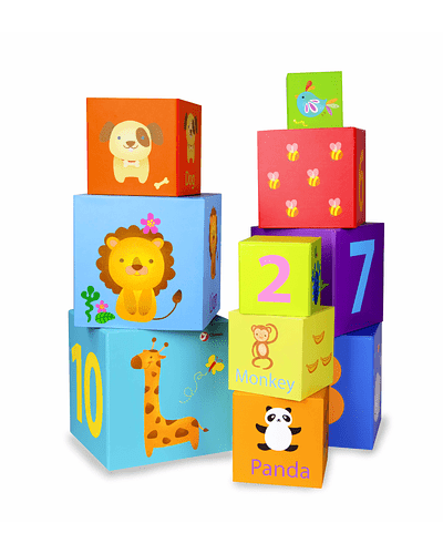 Torre de cubos didáctica