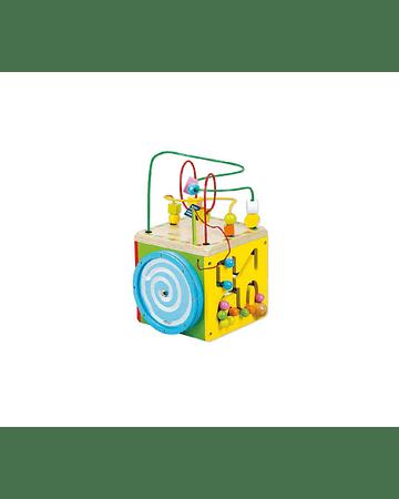 Cubo multifuncional didáctico