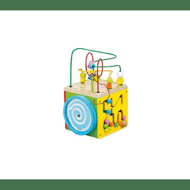 Cubo de madera multifuncional