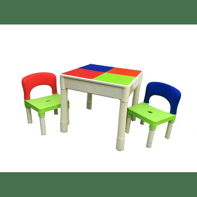 Set mesa + sillas Block Multicolor