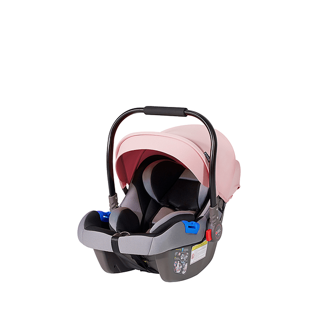 Coche Cuna Travel System rosado Kidscool