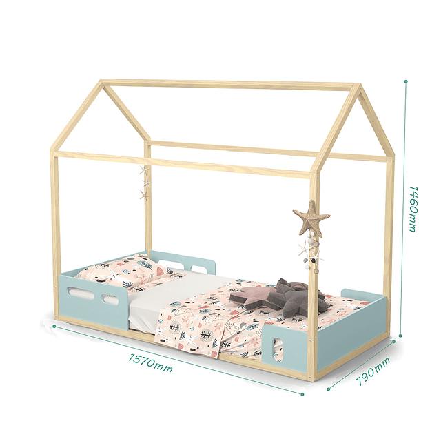 Cama casita LIV Menta