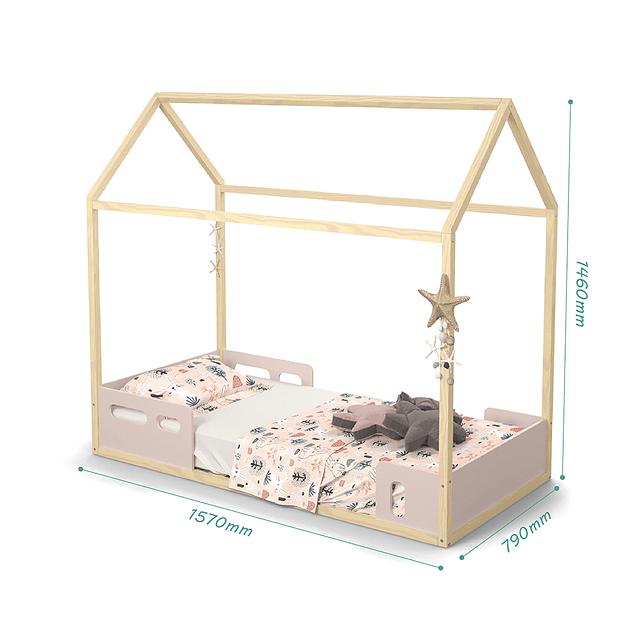 Cama casita LIV Rosada