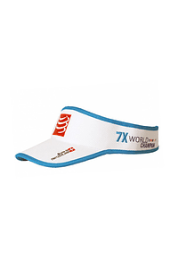 Visera 25x world champion blanca, Compressport