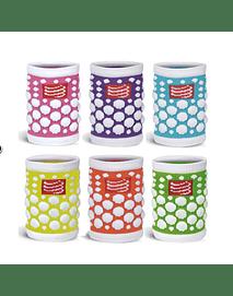 Muñequera 3d Dots colores, Compressport