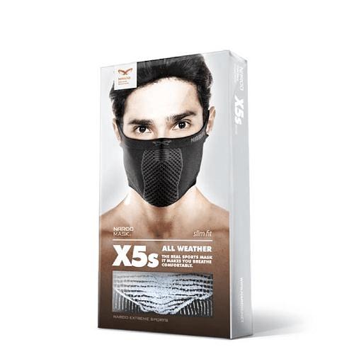 X5s Mascarilla deportiva sin cuello Blanca, Naroo