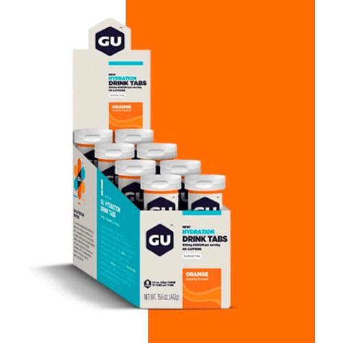 Tabletas de Hidratación (8x12 tabletas) Naranja, GU