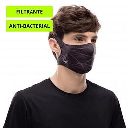 Ape-X Black Mascarilla deportiva con filtro, Buff