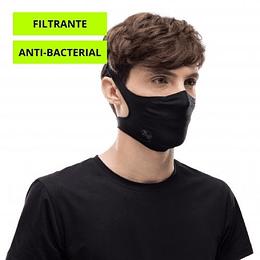 Solid Black Mascarilla deportiva con filtro, Buff