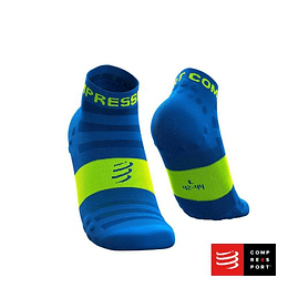 Calcetines Pro Racing Socks Run Low Ultralight V3 Fluo/Blue, Compressport