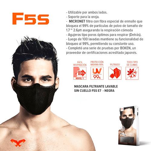 Pack 2 F5S Mascarilla deportiva filtrante lavable, Naroo