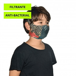 Stony Green Mascarilla niño con filtro, Buff