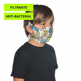 Boo Multi Mascarilla niño con filtro, Buff