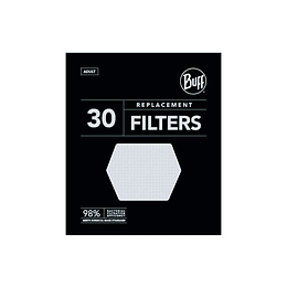 Pack de 30 filtros mascarilla Adulto, Buff