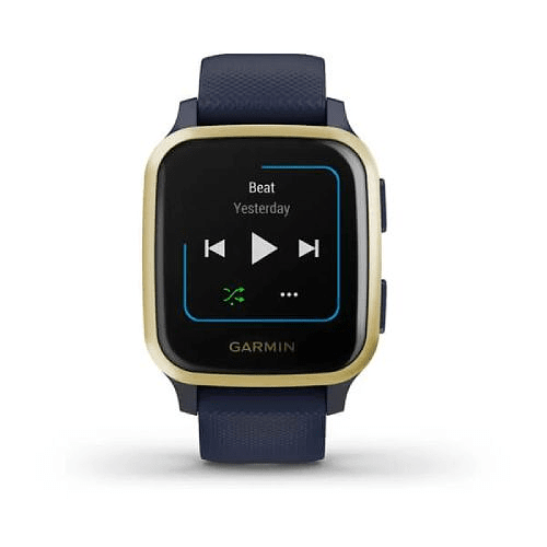 Venu® Sq Music Navy Light Gold, Garmin