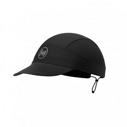 R-Solid Black Pack Run Cap, Buff