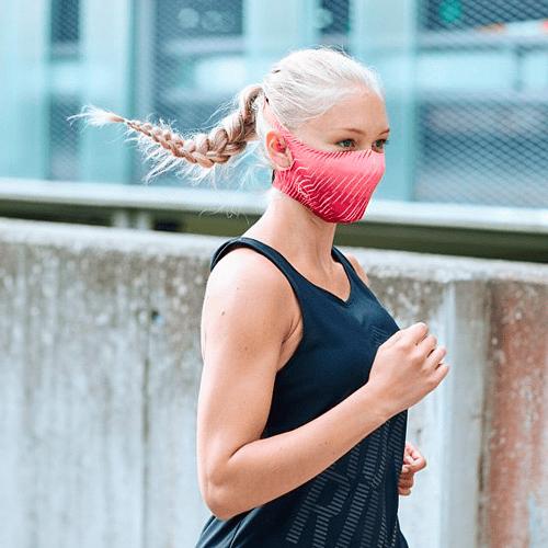 Flash Pink Mascarilla deportiva con filtro, Buff