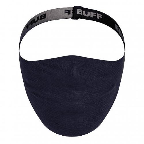 Solid Night Blue Mascarilla deportiva con filtro, Buff