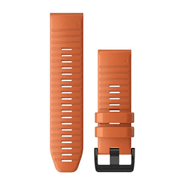 Correa QuickFit Silicona Naranja Ascua 26mm ( Fenix 6/5X plus), Garmin