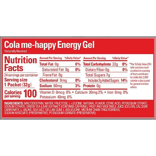 Energy Gel Cola Me Happy, Gu