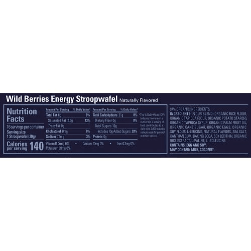 Energy STROOPWAFEL Wild Berry, Gu