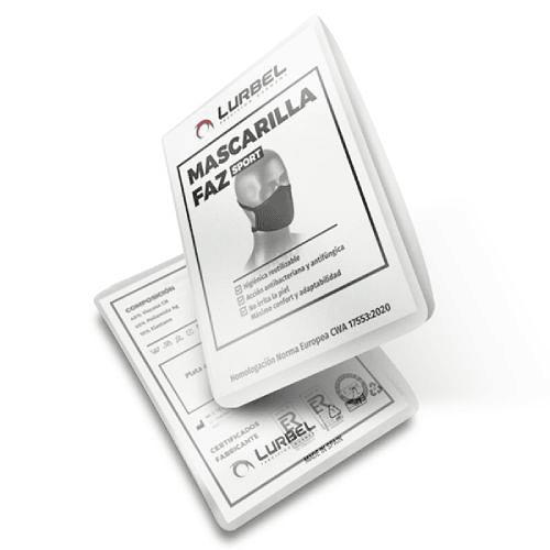 Faz Mascarilla deportiva anti-microbiana Negra, Lurbel