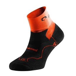 Calcetín de Running unisex negro/naranja, Lurbel