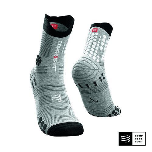 Calcetines de Trail Running Pro Racing Socks v3.0 Grey Melange , Compressport