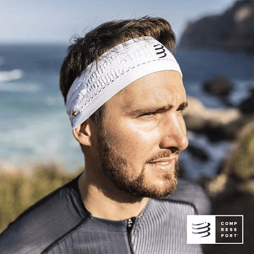 Nuevo Headband Delgado On/Off Blanco, Compressport