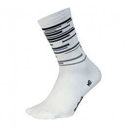 Calcetin Aireator DNA (White/Grey Lines), DeFeet