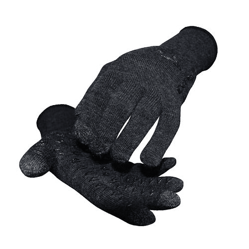 Guantes Charcoal Wool Black Grippies, DeFeet