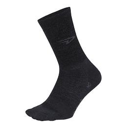 Calcetin Wooleator D-Logo Charcoal Wool, DeFeet