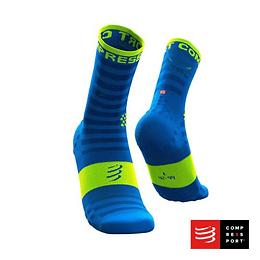 Pro Racing Socks Run High Ultralight v3.0 Fluo/Blue, Compressport