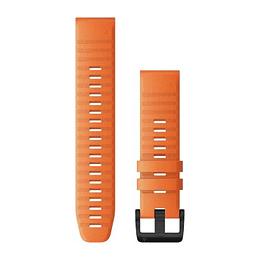 Correa QuickFit Silicona Naranja Ascua 22mm ( Fenix 6/5 plus), Garmin