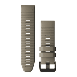 Correa QuickFit Silicona Dark Sandstone Fenix 5X/6X (26mm), Garmin