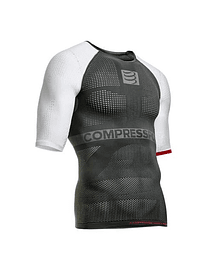 Polera ON/OFF gris-blanco, COMPRESSPORT