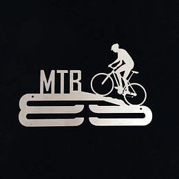 "Medallero acero inoxidable ""Mountainbike"""