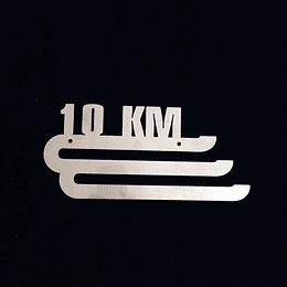 """Medallero acero inoxidable """"10K"""""""