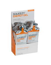 Pack Frambuesa energy gel (12 unidades),  SQUEEZY