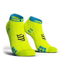 PRORACING SOCKS V3.0 - RUN LOW YELLOW, COMPRESSPORT
