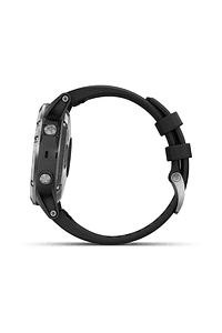 Fenix 5 Plus Plata con correa negra, Garmin