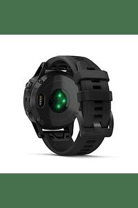Fenix 5 Plus Zafiro, negro con correa negra, Garmin