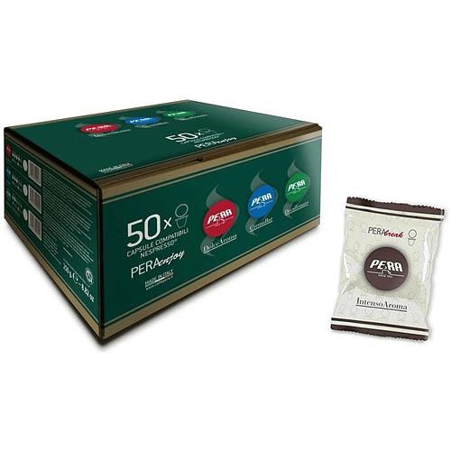 50 CÁPSULAS (NESPRESSO) INTENSO AROMA, CAFE PERA